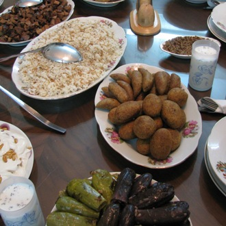 Syrian dinner