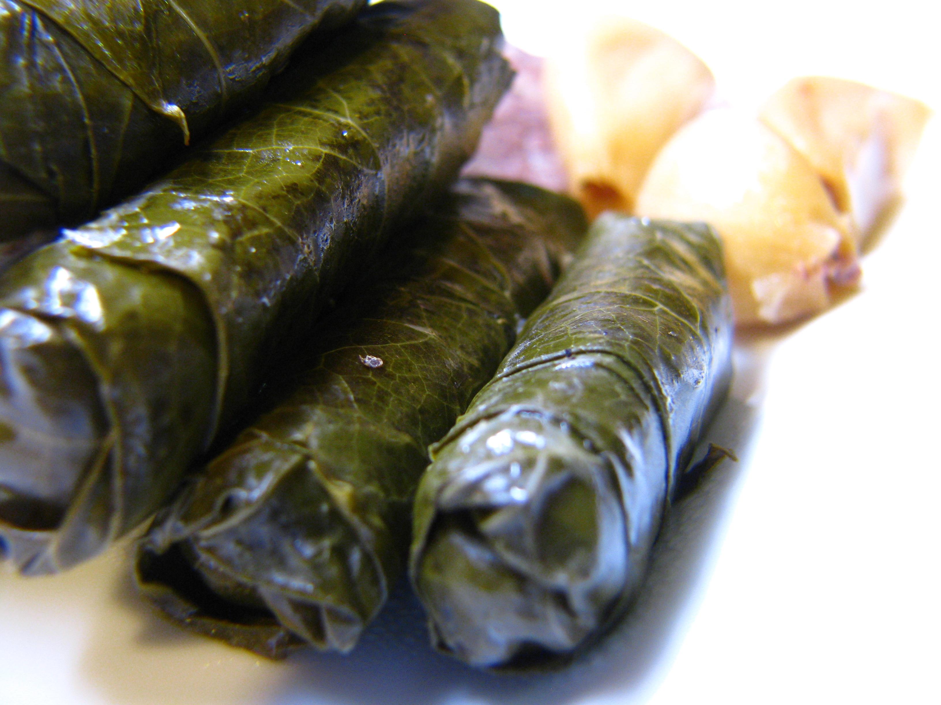 Vegetarian Stuffed Grape Leaves Syrian Cooking